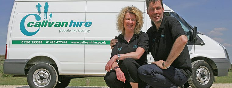 Callvan Hire owners - David and Debbie